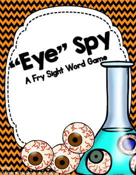 Eye Spy--A Sight Word Freebie