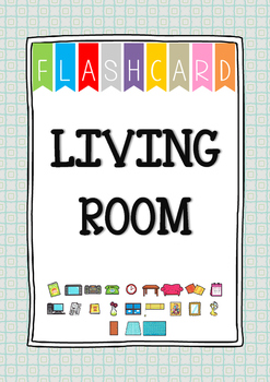 {FLASH CARDS} LIVING ROOM VOCABULARY