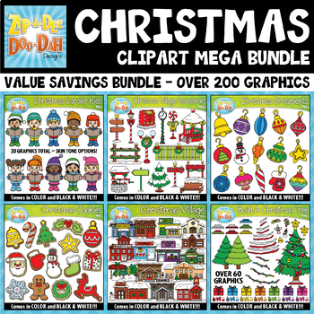 Christmas Graphics Goodie Bag Mega Bundle — Over 200 Graphics!