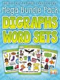 Ending Digraphs Word Sets Clipart Mega Bundle Pack — Inclu