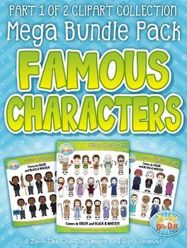 Famous Characters Sets Clipart Mega Bundle Part 1— Include