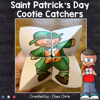 Saint Patrick's Day cootie catchers - Fortune tellers