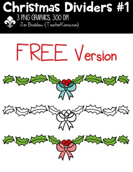 {FREE} Christmas Dividers Clipart ~ Commercial Use OK ~ Buntings