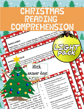 [FREE] Christmas Reading Comprehension Light Pack | Readin