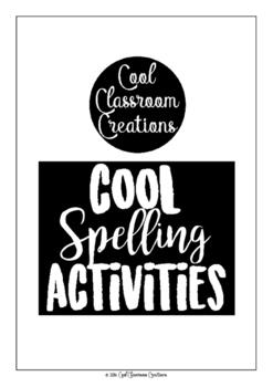 *FREE* Cool Spelling Activities