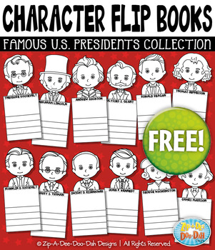 {FREE} Famous United States Presidents Characters Flip Boo
