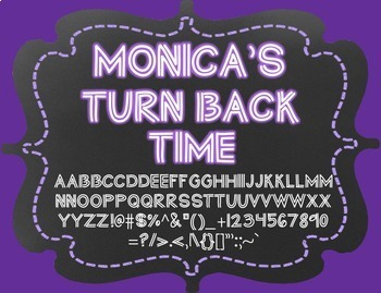 {FREE} Font - Monica's Turn Back Time