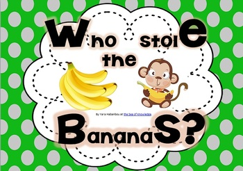 Interactive Grammar Game ~ Who Stole the Bananas?! Grades 1-2