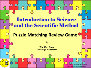 (FREE) Intro to Science and Scientific Method Puzzle Match