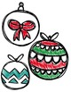 Christmas Balls Clipart ~ Commercial Use OK ~ Chevron