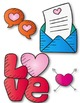 Hearts and LOVE Clipart ~ Commercial Use OK ~ Valentine's Day