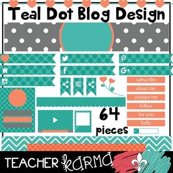 Teal Dots BLOG DESIGN Elements * Teacher Blog