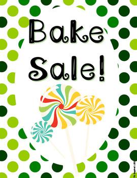 [FREEBIE] Bake Sale Flyer! Ready for St. Patrick's Day!