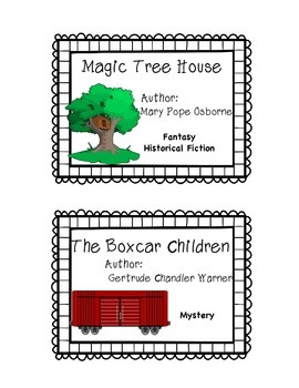 ***FREEBIE** Book Bin Labels Fiction-Series Sampler