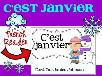 **FREEBIE** C'est janvier ~ French January Teacher reader