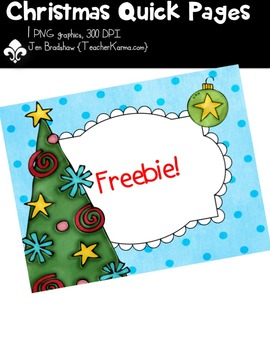 {FREEBIE} Christmas Tree QUICK PAGE Seller's Kit Clipart ~