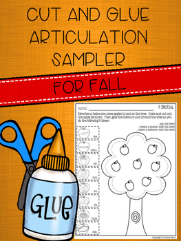 *FREEBIE* Cut and Glue Articulation Sampler for Fall