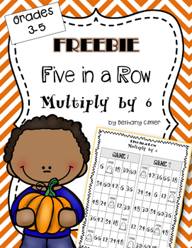 {{FREEBIE}} Five in a Row Multiply by 6 Game