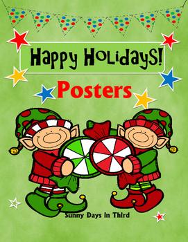 { FREEBIE } Happy Holidays Posters