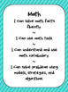 **FREEBIE**  I Can Reading and Math Posters for Interventi