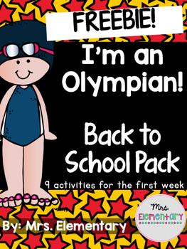 *FREEBIE* I'm An Olympian! Back to School Pack ~ Olympics 2016