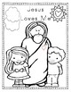 JESUS  COLORING PAGES { FREE }