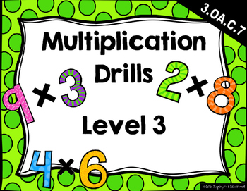 {FREEBIE} Multiplication Drills Level 3 (Mixed - 30 per page)