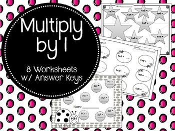 {FREEBIE} Multiply by One. Worksheets. Times Tables. 1. Mu
