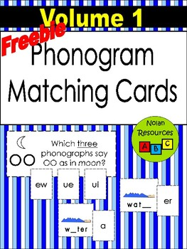 *FREEBIE* - Phonogram Matching Cards - Vol. 1