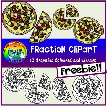 [FREEBIE] Pizza Fraction Clipart