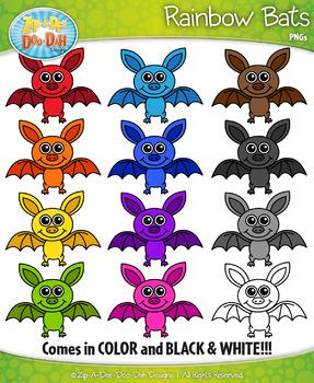 {FREEBIE} Rainbow Bats Clipart Set — Includes 12 Graphics!
