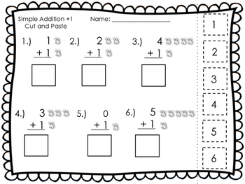 {FREEBIE} Simple Addition and Subtraction Cut & Paste Pages