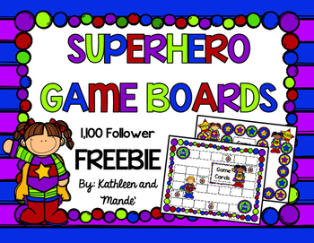 {FREEBIE} Superhero Game Boards