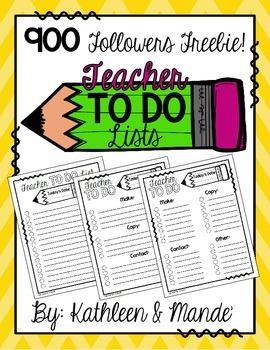 {FREEBIE} Teacher To Do Lists