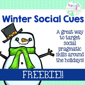 {{FREEBIE}} Winter Social Cues by Speech Me Maybe