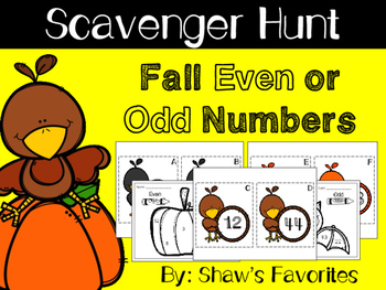 {Fall} Even or Odd Scavenger Hunt and MORE
