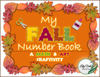 **Fall Number Book Craftivity** -LilyVale Learning- A Fall