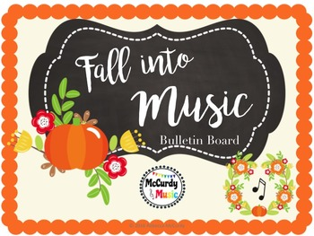 """Fall"" into MUSIC bulletin board / door decor!"