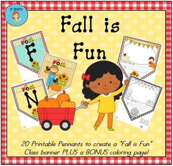 """""""Fall is Fun"""" Class Pennant Banner with Worksheet"""