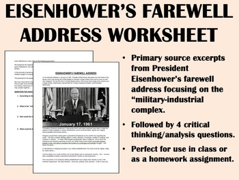 """Farewell Address"" - Dwight Eisenhower - USH/APUSH"