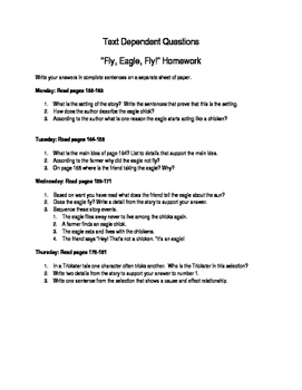 """""""Fly, Eagle, Fly"""" Text Dependent Questions"""
