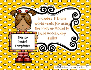 Frayer Model Vocabulary Ultimate Handouts Collection!