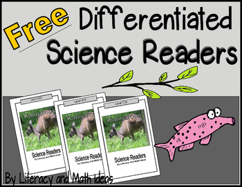 **Free** Differentiated Science Readers
