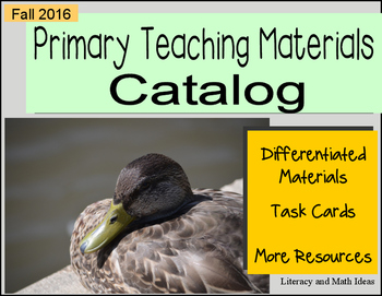 (Free) Fall 2016 Primary Catalog of Teaching Resources