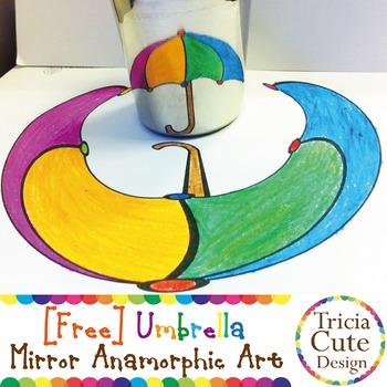 [Free] Mirror Anamorphic Art Coloring Sheet – Optical Illusion