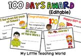 {Freebie} 100 Days of School Awards
