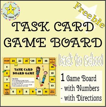 ***Freebie*** Back to School Task Card Game Board
