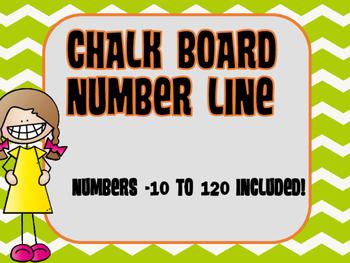 **Freebie**  Chalkboard Number Line