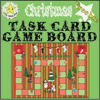 ***Freebie*** Christmas Task Card Game Board