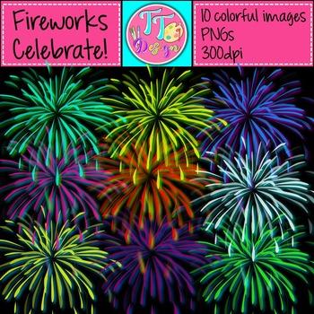 {Freebie} Fireworks Party Clip Art CU OK